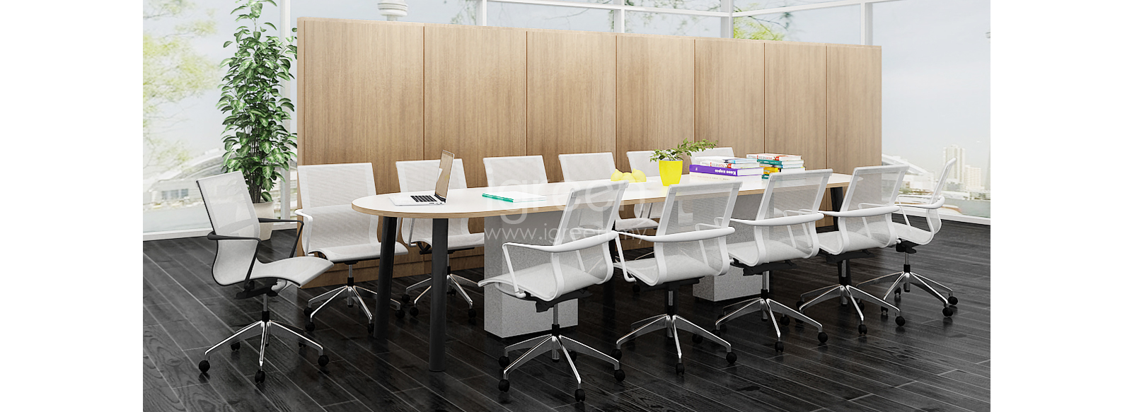 Been Series Design Concept Oval Meeting Table