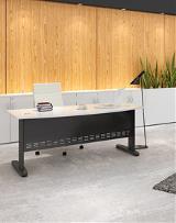 Been Series Black Metal Office Table