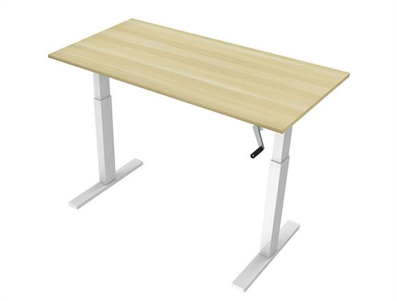 Manual Hand Crank Standing Desk Height Adjule Table From Strong Myr799 Products Igreen Office Furniture