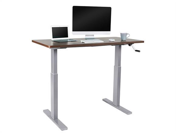 manual hand crank standing desk manual hand crank standing desk height adjustable table from. Black Bedroom Furniture Sets. Home Design Ideas